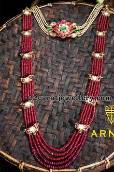 Ruby Beads Long Chain by Arnav Jewellers - Jewellery Designs