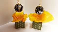 On the #EIGHTH day of Christmas my true love gave to me...VCU Cloisonne Ornaments! #christmastraditions #vabookco