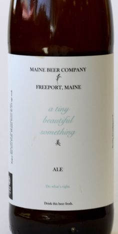 Maine Beer Company's Tiny Beautiful Something satisfies even a non-beer-drinker.