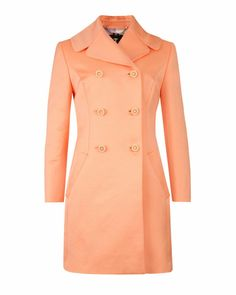 Double breasted coat - Orange | Jackets & Coats | Ted Baker ROW