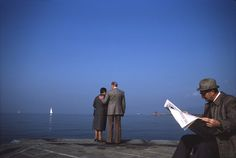 https://flic.kr/p/4h2iye | Trieste October 1985 | FROM THE ARCHIVE: Sunday morning. People in their church finery strolled to end of the pier. This couple were particularly touching. October 1985 www.graphiclounge.com.au