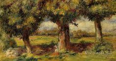 Pierre Auguste Renoir Landscape Near Pont-aven oil painting reproductions for sale