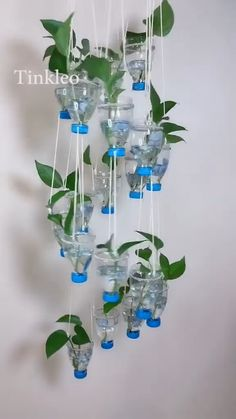 DIY Wind Chimes Bottle Decoration - Use of mineral water bottles to make wind c. - DIY Wind Chimes Bottle Decoration – Use of mineral water bottles to make wind chimes decoration. Diy Crafts Hacks, Diy Home Crafts, Garden Crafts, Creative Crafts, Crafts For Kids, Homemade Crafts, Garden Ideas, Garden Inspiration, Carillons Diy