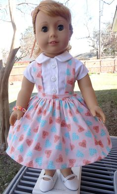 1950's Style Blouse and Jumper for AG dolls by Designed4Dolls on Etsy  $22.95