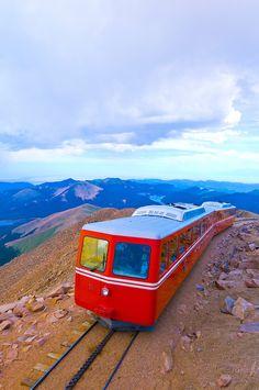 Pikes Peak Cog Railway Train ~ Colorado Springs, Colorado