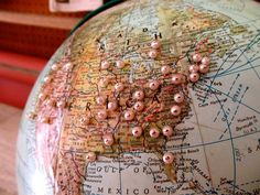 globe with pins - Google Search