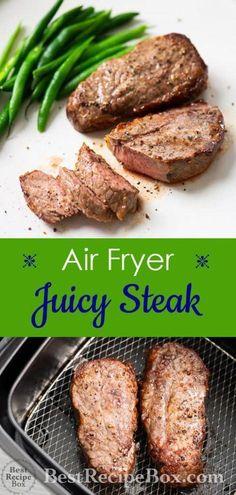 Air Frier Recipes, Air Fryer Oven Recipes, Air Fryer Dinner Recipes, Power Air Fryer Recipes, Air Fry Steak, Nuwave Air Fryer, Cooks Air Fryer, Air Fried Food, Best Recipe Box