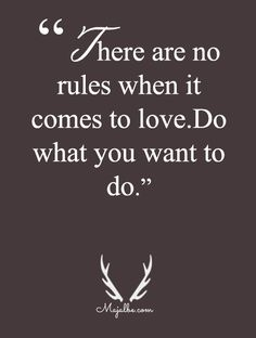 There Are Absolutely No Rules Love Quotes
