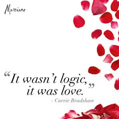 It Was Love. Sex and the City #quote