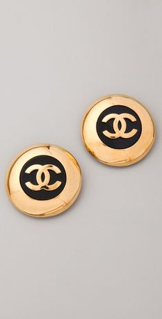 Ladies! We have just gotten beautiful vintage Chanel Button earrings in at Charlotte's! You will DIE!  919-787-7113