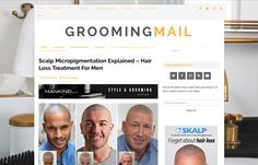 Scalp Micropigmentation Explained – Hair Loss Treatment For Men! By Grooming Mail  http://groomingmail.com   #haircare #haircareformen #hairloss #grooming #scalpmicropigmentation #shaved