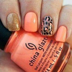 Neon Leopard Print Nails by SeriLynn