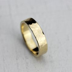 I have added more new pieces to my shop: Men's Gold hammered ring 14k gold hammered by Praxis Jewelry