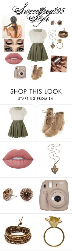 """""""Sweeettreat95 Style"""" by sweeettreat95 ❤ liked on Polyvore featuring Jolie Moi, Miss Dora, Lime Crime, Loree Rodkin, Matthew Williamson, Fujifilm, Chan Luu and Aude Lechère"""