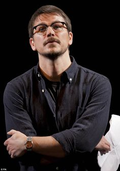 Another silver screen star: Silver screen supremo Josh Hartnett also took to the stage sporting a slick fringe and perfectly groomed moustache and beard