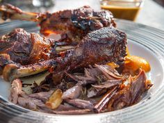 Turkey Leg Confit with Shallots and Thyme recipe from Guy Fieri via Food Network