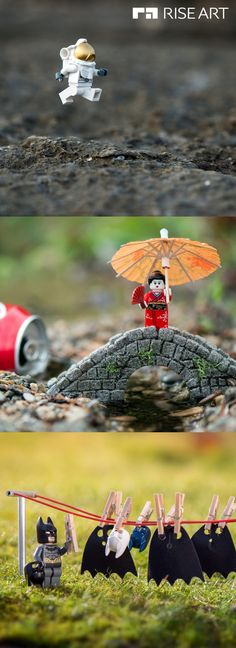 ´Lunar´, ´Japan´, ´Alfred´s Day Off´ by Samsofy Samlal., ´Japan´, ´Alfred´s Day Off´ by Samsofy Samlal. Available for sale. These witty and playful works will add s. Miniature Photography, Lego Photography, Foto Batman, Lego Hacks, Lego Craft, Lego Lego, Lego Pictures, Lego Worlds, Buy Art Online