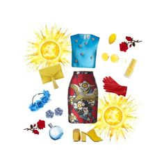 """Japan inspiration"" by francesca-croci on Polyvore featuring Dsquared2, Maison Rabih Kayrouz, Topshop, Neiman Marcus, Ray-Ban, Hermès and Mark & Graham"