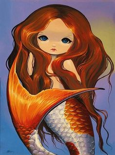 Koi Mermaid, cute