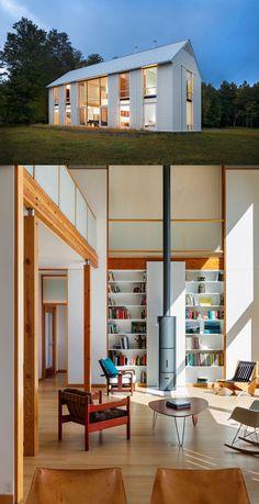 Modern Farmhouse with cool features interior and exterior! #homedesignlover #homedecor #modernhouse #farmhouse #barn #homeideas