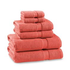 Chambers® Heritage 800-Gram Solid Towels, Coral   Williams-Sonoma