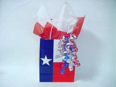 Texas Flag Paper Gift Bag | Salute Texas Gift Bag :: GIFT BASKETS :: Texas Food