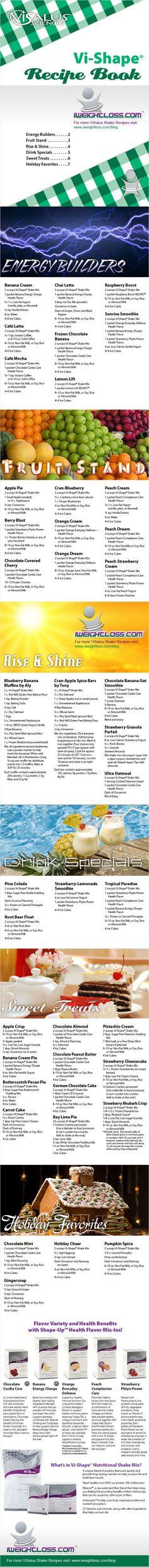 ViSalus Shakes Recipe Book   ViSalus Body by Vi™ News and Updates