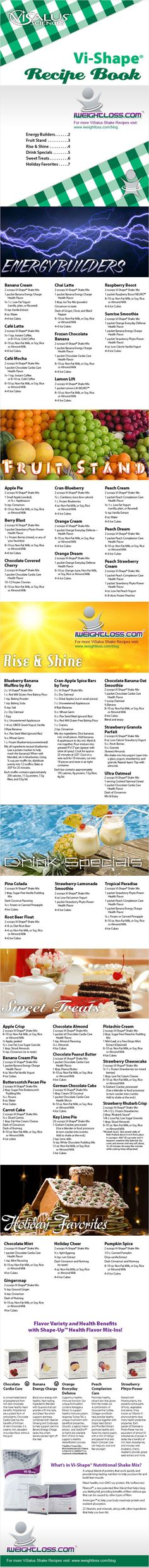 ViSalus Shakes Recipe Book | ViSalus Body by Vi™ News and Updates