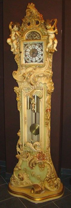 Exclusive and One of a Kind Grandfather Clock with Two Cherubs !!Price Drastic Reduced !!