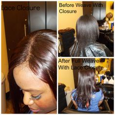 Sew In With Closure, Closure Weave, Lace Closure, Full Weave, Straight Weave, Full Sew In, Weave Hairstyles, Bangs, Weaving