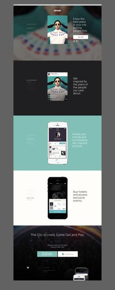 Fever: An urban activity discovery tool | App Informational Landing Page Design #webdesign