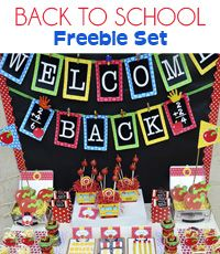 Free back to school printables. We bought Grant's monster party decorations from her--she has lots of cute holiday freebies too!