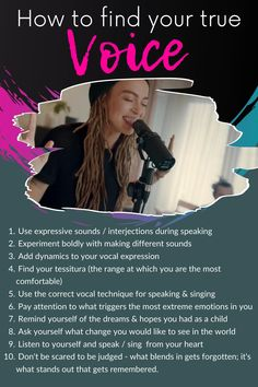 How to find your true voice - learn to sing and speak better by finding and using your true voice