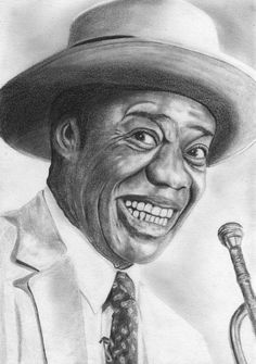 Louis Armstrong by BERNARDINO - CARICATURE: http://dunway.com/