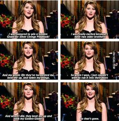 Jennifer Lawrence on winning the Golden Globe