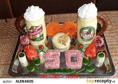Slaný dort - 2 x pivo, 2 x zelená ! recept - TopRecepty.cz Creative Kitchen, Cake, Desserts, Food, Savory Snacks, Gifts, Other, Pie Cake, Meal