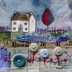 'Seasons come and seasons go...... its a measure of time' by Louise O'Hara of DrawntoStitch www.drawntostitch.com