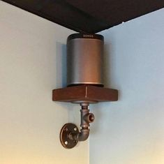 Trophy or Speaker Shelf made from Reclaimed Wood and Industrial Pipe Industrial shabby chic Steampunk Hampton Industrial Design – Media Room İdeas 2020 Wood, Speaker Shelves, Hampton Industrial, Shelves, Trophy Shelf, In Wall Speakers, Speaker Stands, Media Room Paint Colors, Reclaimed Wood