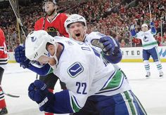 Gallagher: Sedin brothers looking to sign contract, retire as Canucks Henrik Sedin, Signed Contract, Vancouver Canucks, Retirement, Motorcycle Jacket, Hockey, Brother, Signs, Sports