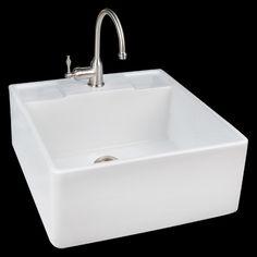 Farmhouse Sink Single Bowl : ... Sinks on Pinterest Fireclay farmhouse sink, Kitchen sinks and