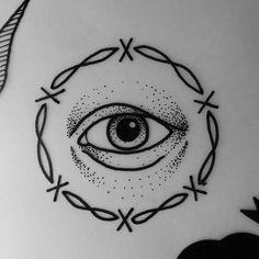 Black. Eye tattoo