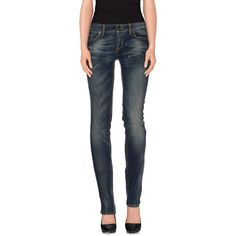 Liu •jo Jeans Denim Trousers ($95) ❤ liked on Polyvore featuring jeans, blue, zipper jeans, mid rise straight leg jeans, liu jo jeans, blue denim jeans and denim straight leg jeans