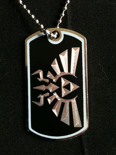 Legend of Zelda Hyrule Crest Dog Tag Necklace by ambersunset, $10.00