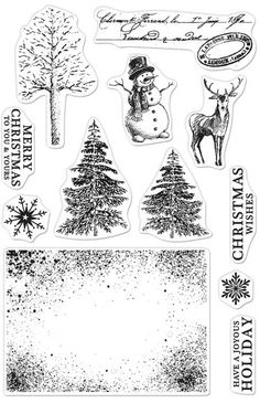 Hero Arts - Clear Stamp - Vintage Christmas Wishes,$15.99