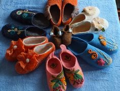 Felted Slippers Alpaca and Romney Wool July 2013 by Louisa Rull @Louisa Rull