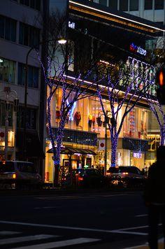 New Year Illuminations in Japan Sakae, Nagoya, I love this shopping district!