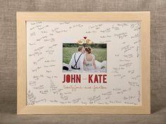 Wedding Guest Book Alternative  Photoframe by forlovepolkadots