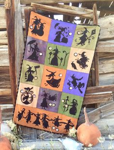 "NEW! #288 ""When Witches Fly"" Wool Appliqué Pattern"