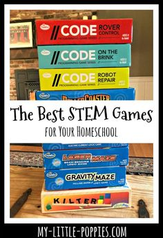 The Best Stem Games For Your Homeschool The Best Stem Games For Your Homeschool My Little Poppies The Best Stem Games For Your Homeschool Plus So Much More Toys Books And Other Resources For Gameschooling Families Who Love Stem Educational Board Games, Educational Software, Educational Activities For Kids, Learning Activities, Kids Learning, Articulation Activities, Baby Activities, Therapy Activities, Educational Toys