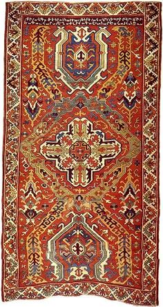 HOW BEAUTIFUL! Inscription: I, gohar, full of sin and weak of soul, with my newly learned hands wove this rug. whosoever reads this say a word of mercy to God for me. In the year 1149 A. Classic Rugs, Magic Carpet, Prayer Rug, Persian Carpet, Persian Rug, Rug Hooking, Carpet Runner, Woven Rug, Tribal Rug
